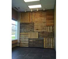 How to build a wood pallet wall Plan