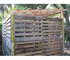 How to build a wood pallet well shed Plan