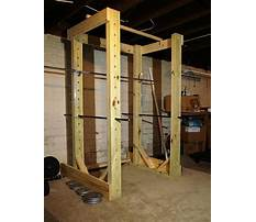 How to build a wood power rack Plan