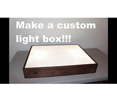 How to build a wooden light box Plan
