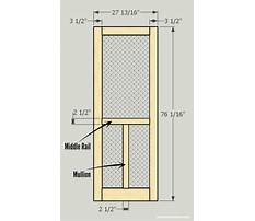 How to build a wooden screen door Plan