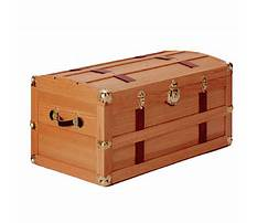 How to build a wooden steamer trunk Plan