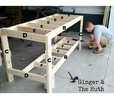 How to build a work table plans Plan