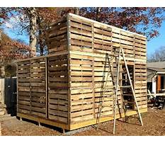 How to build a workshop out of pallets Plan
