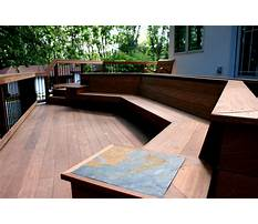 How to build an outdoor corner bench with storage Plan