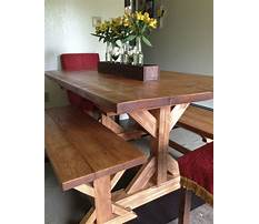 How to build bench for dining table Plan