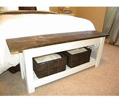 How to build bench for end of bed Plan