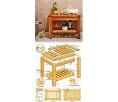 How to build bench for shower Plan