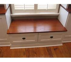 How to build bench seating with drawers Plan