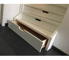 How to build drawers in stairs Plan