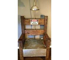 How to build electric chair for halloween Plan