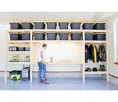 How to build garage storage rack Plan