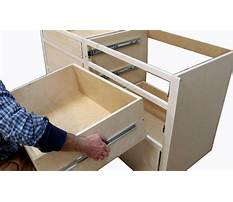 How to build kitchen cabinets install drawer slides Plan