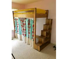How to build loft bed with storage Plan
