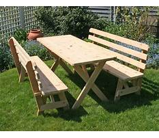 How to build outdoor table and bench.aspx Plan