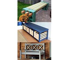 How to build outdoor wooden storage bench Plan