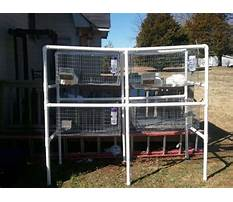 How to build rabbit cages with pvc pipe Plan