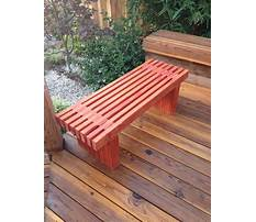 How to build wooden benches for a deck Plan
