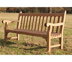 How to build wooden park bench Plan