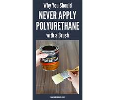 How to clean polyurethane brush Plan