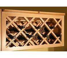 How to design a wooden wine rack Plan