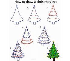 How to draw simple christmas tree Plan