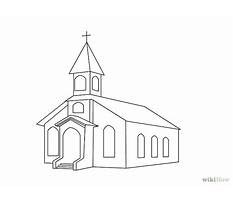 How to draw simple churches Plan