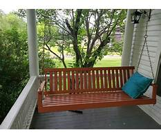 How to install hanging porch swing Plan