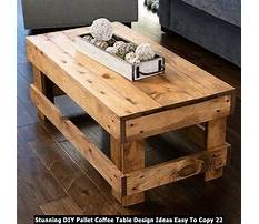 How to make a coffee table from wood pallets Plan