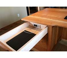 How to make a desk with hidden wireless charging Plan