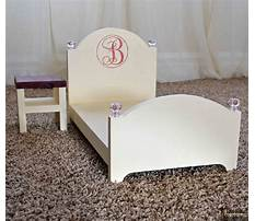 How to make a doll bed from wood Plan