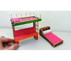How to make a doll bed with popsicle sticks Plan