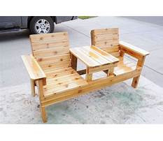 How to make a double chair bench diy patio furniture Plan
