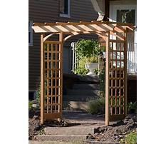 How to make a garden arbor.aspx Plan