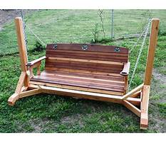 How to make a homemade wooden porch swing Plan