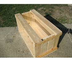 How to make a large wooden box with lid Plan