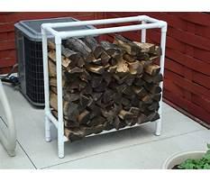 How to make a pvc firewood rack Plan