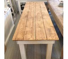 How to make a reclaimed wood table top Plan