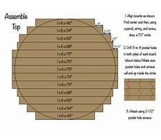 How to make a round table top with trex Plan
