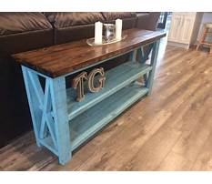 How to make a rustic sofa table Plan