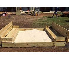 How to make a sandbox play area Plan