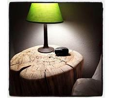 How to make a tree stump nightstand Plan