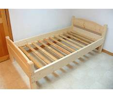 How to make a twin bed out of wood Plan