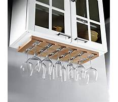 How to make a wine rack under a cabinet Plan