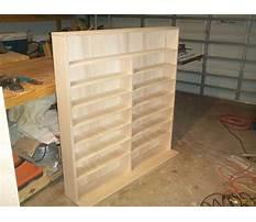 How to make a wood cd rack Plan