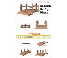 How to make a wooden arch bridge Plan