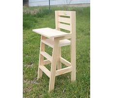 How to make a wooden doll high chair Plan