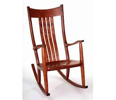 How to make a wooden rocking chair more comfortable Plan