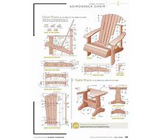 How to make an adirondack chair Plan