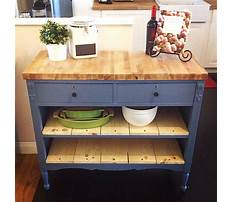 How to make an old dresser into a kitchen island Plan